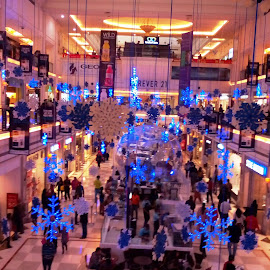 Mall Decoration for Christmas in India by Anjela Mukherjee - News & Events World Events ( lights, mall decoration, events, christmas, entertainment, photography )