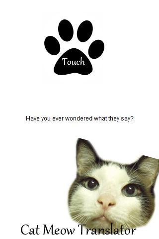 Cat Meow Translator