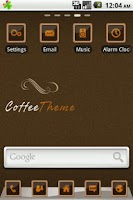 Screenshot of Coffee GO Launcher Theme