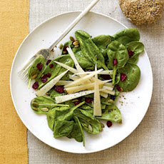 Spinach Salad with Cranberries and Pumpkin Seeds