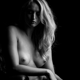 Laura by Paul Phull - Nudes & Boudoir Artistic Nude ( art nude, blonde, black and white, artistic, shadows )
