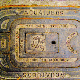Sewer Cover in Bogota, Colombia by Tyrell Heaton - Artistic Objects Still Life ( bogota, colombia, sewer cover challenge, sewer cover,  )