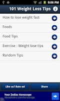 Screenshot of 101 Weight Loss Tips