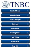 Screenshot of TNBC Mobile App