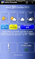 Screenshot of Météo Grenoble
