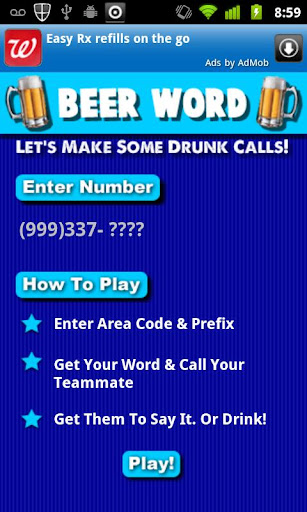 Beer Word Drinking Game