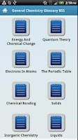 Screenshot of General Chemistry Glossary BSS