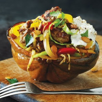 Stuffed Acorn Squash with Turkey Sausage