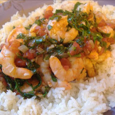 Quick Tomato Shrimp Stew Florentine