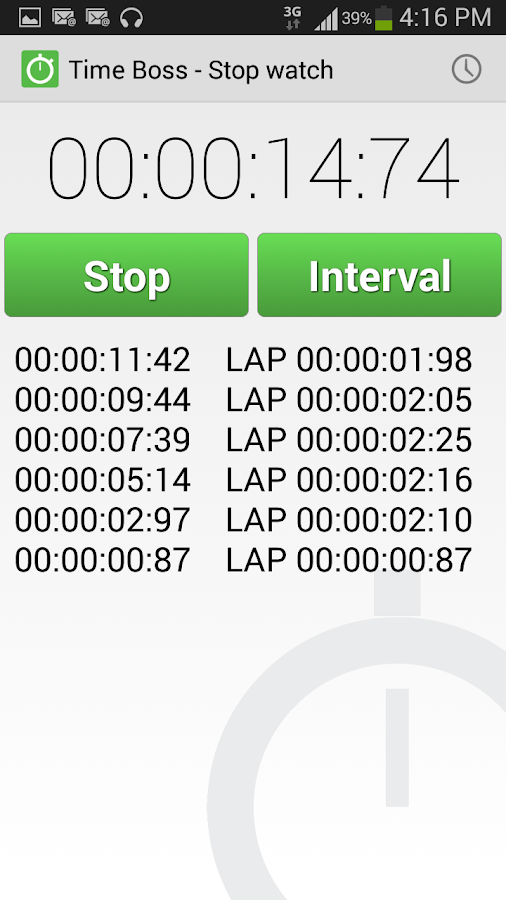 TimeBoss 2 PRO timer stopwatch Screenshot 6