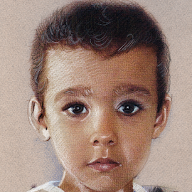 Child portrait by Daliana Pacuraru - Drawing All Drawing ( child, commissioned drawing, daliana pacuraru, portrait )
