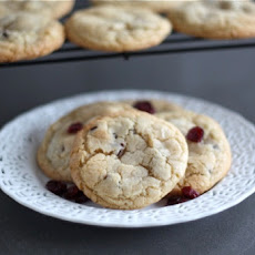 Almond Cookies with Cranberries & White Chocolate