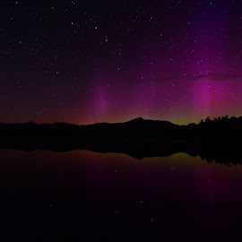 Aurora at Chocora with faint meteor (to the left of one in previous shot).  9/12/13.  All JPEG shots no processing. by Deborah Gracie - News & Events Weather & Storms