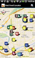 Screenshot of Fast Food Restaurants Locator