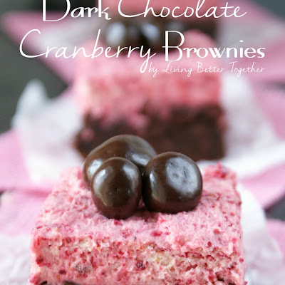 Dark Chocolate Cranberry Brownies