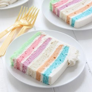 Square Pastel Layer Cake
