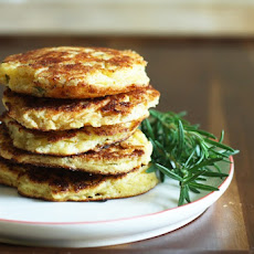 Savory Corn Pancakes with White Cheddar & Rosemary