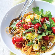 Linguine with Brie & Raw Tomato Sauce