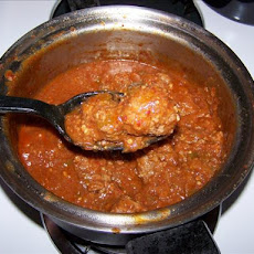 Super Spicy Garlic Meatballs