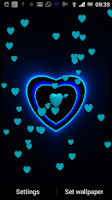 Screenshot of 3D Neon Love Shower LWP