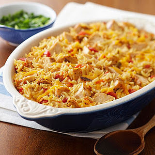 Zesty Chicken Orzo Casserole