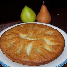 Quick Crustless Pear Tart