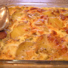 Swedish Ham, Potato, Dill and Cheese Bake
