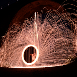 Fire Effect by Krisdian Isnu Wardana - Abstract Light Painting ( steelwool, fireworks, fire,  )