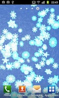 Screenshot of Slow Snow Live Wallpaper Full