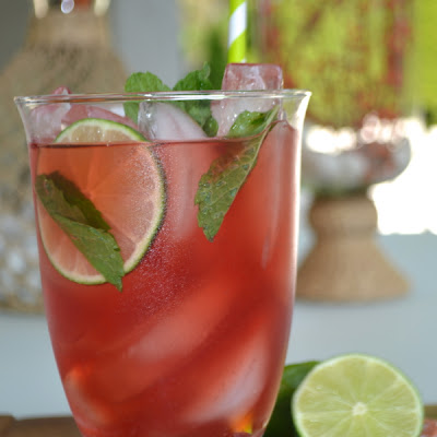 Pomegranate Lime Ice Tea