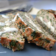 Feta-Stuffed Turkey Meatloaf with Tzatziki Sauce