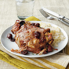 Turkey Thighs with Olives and Dried Cherriess