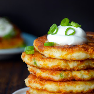 Cheesy Leftover Mashed Potato Pancakes