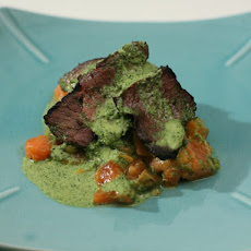 Smokey Filet with Serrano-Papaya Salsa and Serrano-Mint-Cilantro Chutney