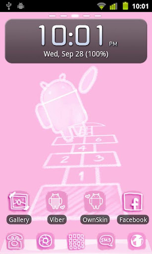 Chalk in Pink Theme