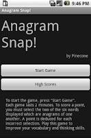 Screenshot of Anagram Snap