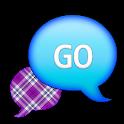 GO SMS - Purple Plaid Sky 2 icon