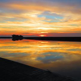 Sunset 12-27-14 by Camille Spicer - Landscapes Sunsets & Sunrises