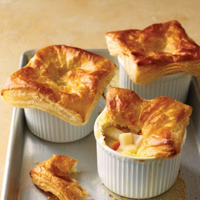 Chicken Potpies with Puff Pastry