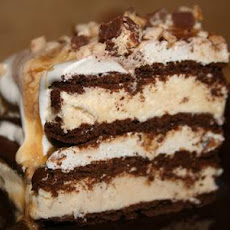 Layered Ice Cream Candy Cake!