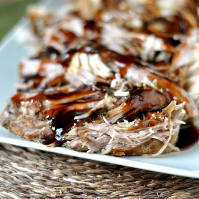 Sweet Balsamic Glazed Pork Loin {Slow Cooker}