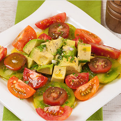 Tomato and Avocado Salad with Lemon-Chive Vinaigrette