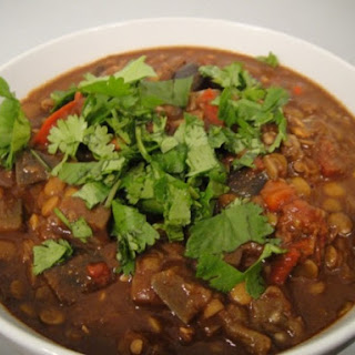 Lentil and Eggplant Chili Mole