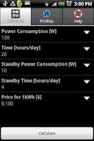 Screenshot of Power Consumption Calculator