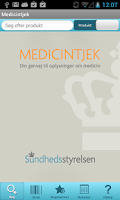 Screenshot of Medicintjek