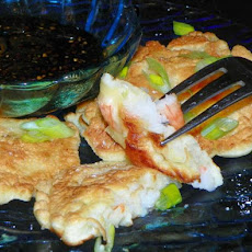 Shrimp and Green Onion Mini-Pancakes