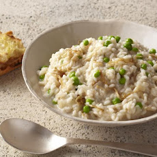 Risotto Bianco with Enoki and Fresh Peas