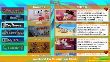 Screenshot of Toon Goggles for Sony GTV