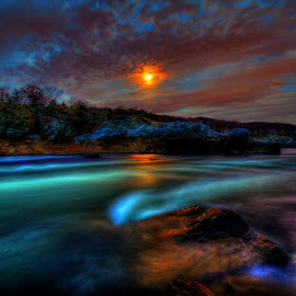 Martian Life at Great Falls by Pete Daley - Landscapes Waterscapes ( hope )