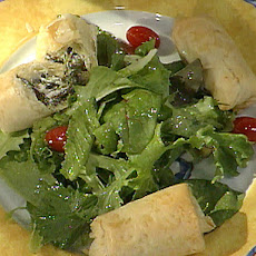 Popeye's Fresh Spinach and Goat Cheese Strudels